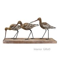 Archipelago 'Godwit Block' Three Godwit Birds on Driftwood Wood Carving
