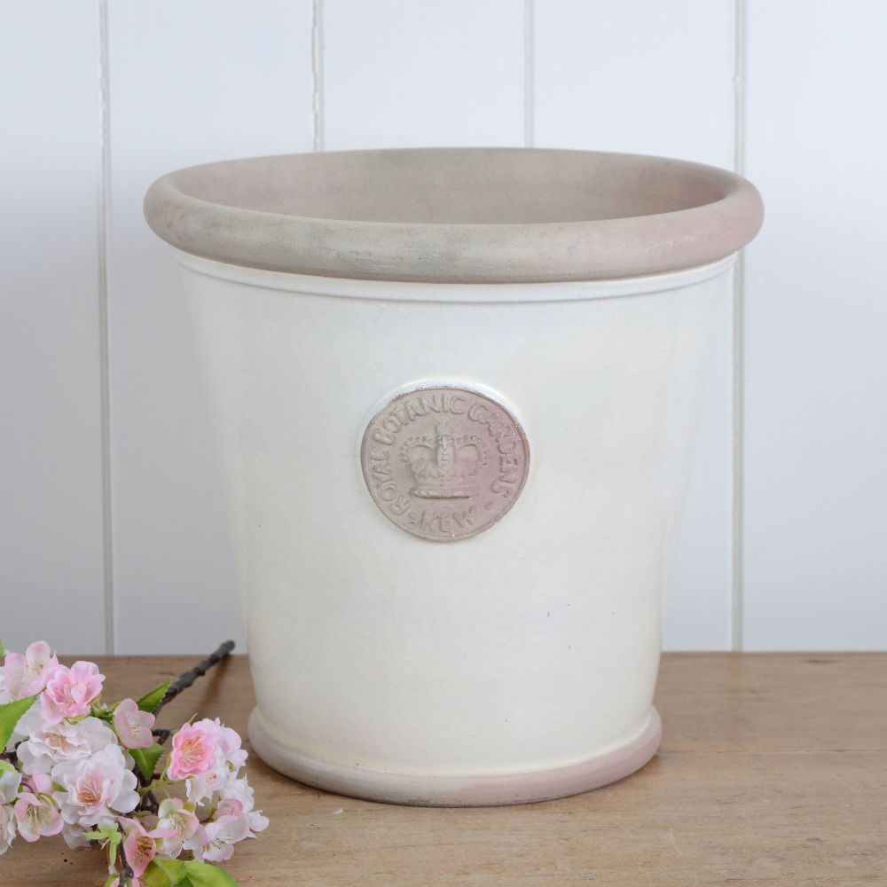 Kew Orangery Pot Ivory Cream - Royal Botanic Gardens Plant Pot - 27 cm H