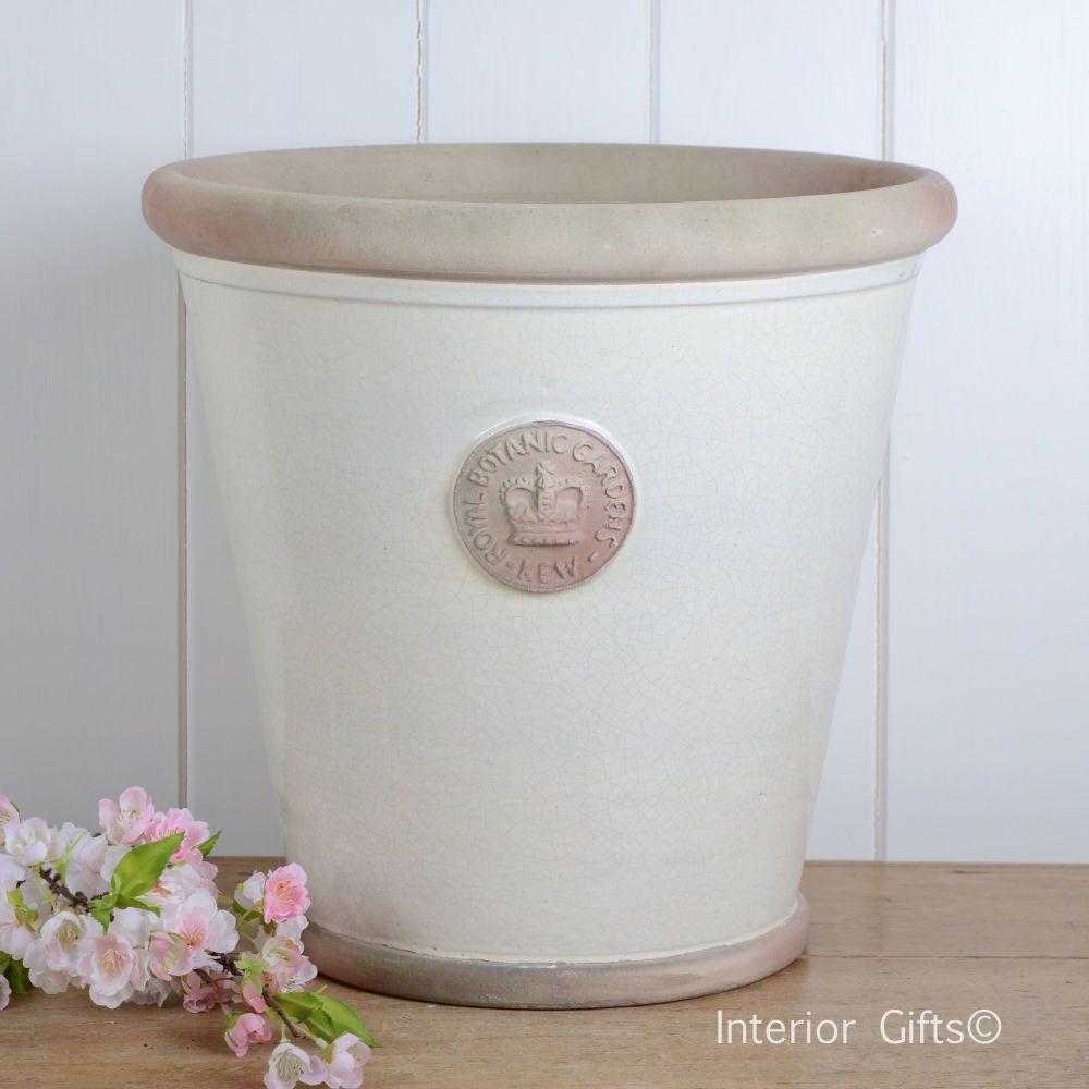 Kew Orangery Pot Ivory Cream - Royal Botanic Gardens Plant Pot - 35 cm H
