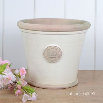 Kew Orangery Pot Ivory Cream - Royal Botanic Gardens Plant Pot - 19 cm H