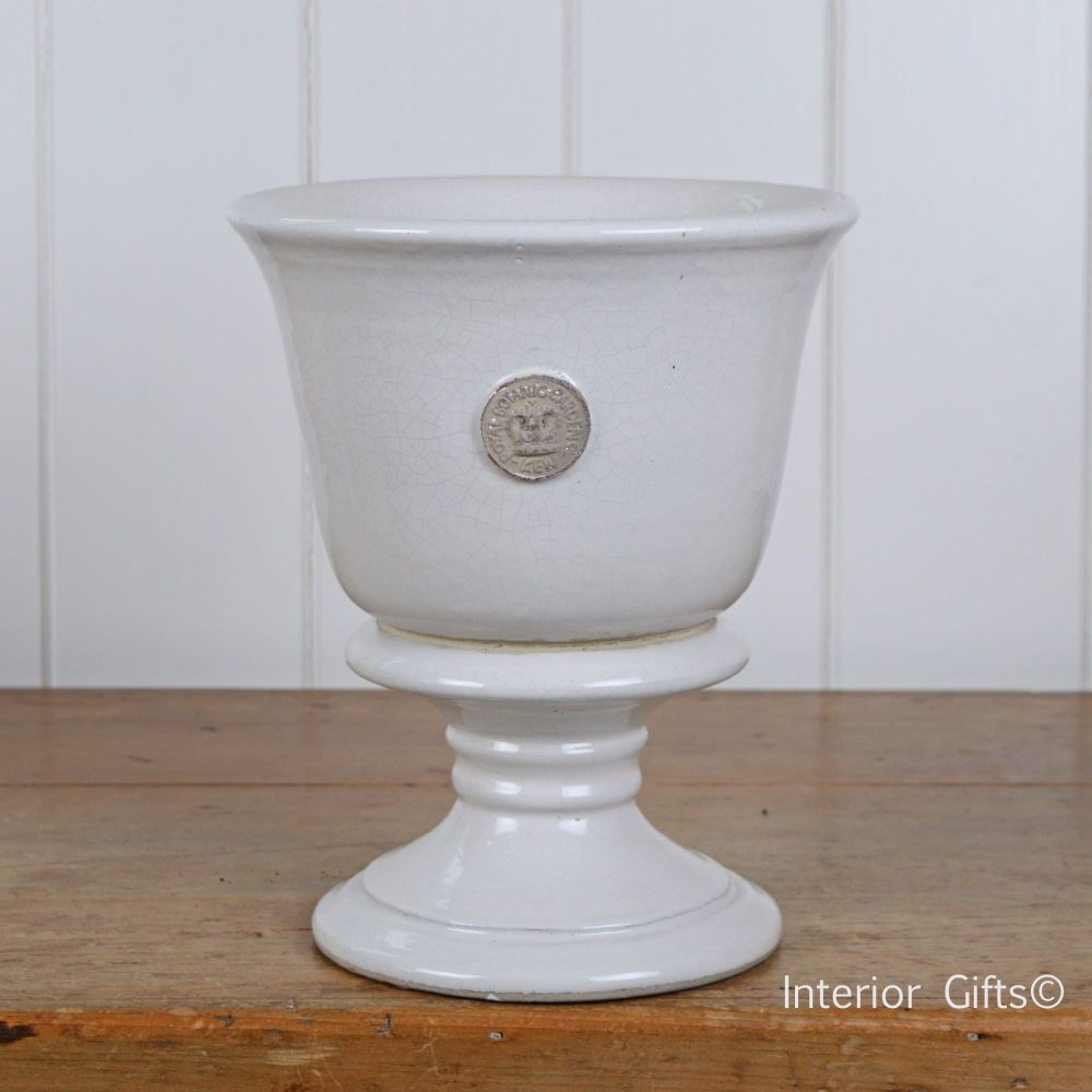 Kew Garden Chalice Pot Footed Urn Plant Pot In Old White