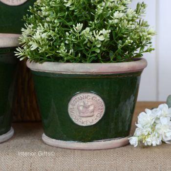 Kew Low Planter Pot Country Green - Royal Botanic Gardens Plant Pot - Small