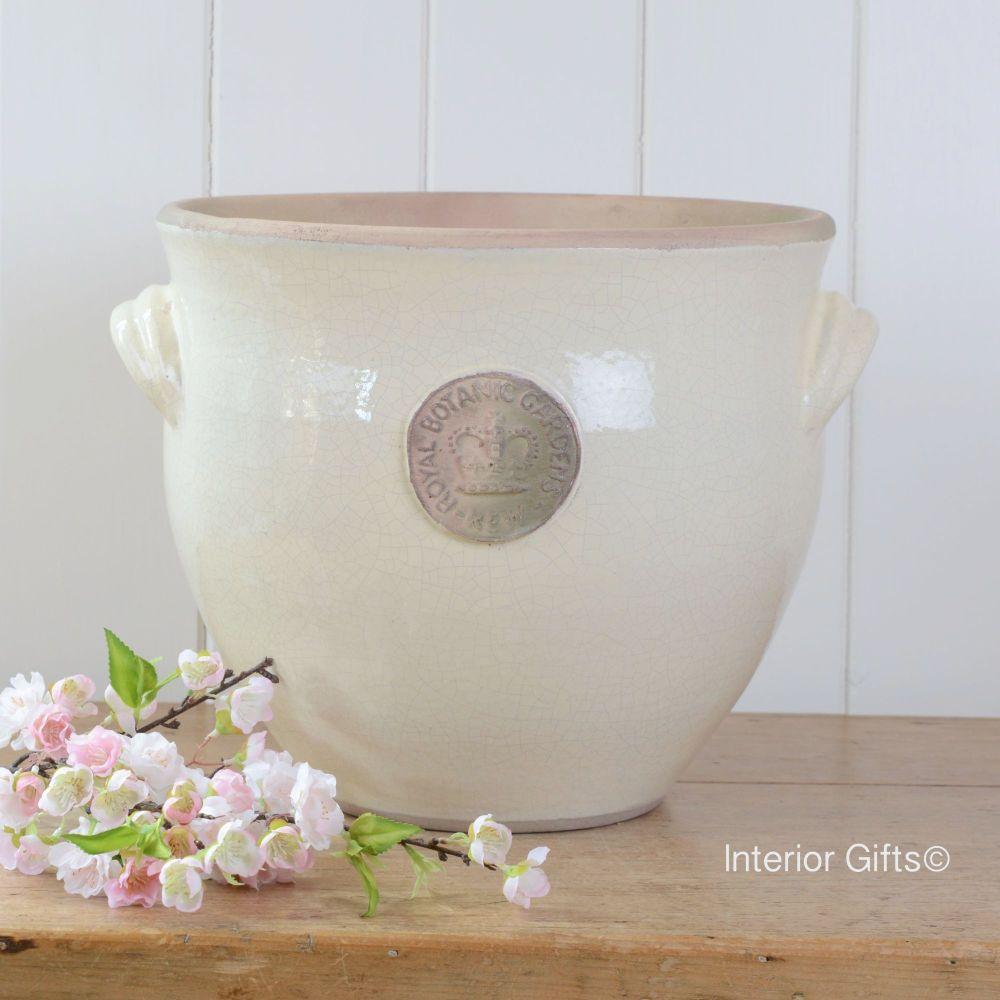 Kew Provencal Pot with Handles Ivory Cream - Royal Botanic Gardens Plant Po