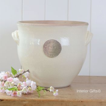 Kew Provencal Pot with Handles Ivory Cream - Royal Botanic Gardens Plant Pot - Large