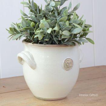 Kew Provencal Pot with Handles Ivory Cream - Royal Botanic Gardens Plant Pot - Medium