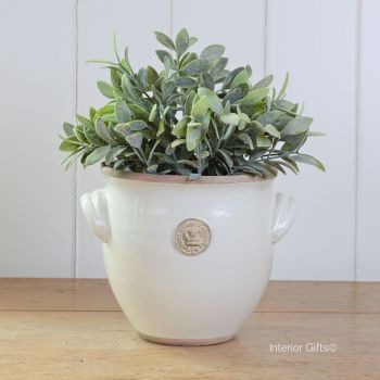 Kew Provencal Pot with Handles Ivory Cream - Royal Botanic Gardens Plant Pot - Small