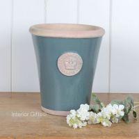 Kew Long Tom Pot in Green Smoke - Royal Botanic Gardens Plant Pot - Large