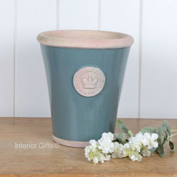 Kew Long Tom Pot in Green Smoke - Royal Botanic Gardens Plant Pot - Large
