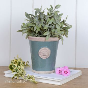Kew Long Tom Pot in Green Smoke - Royal Botanic Gardens Plant Pot - Small