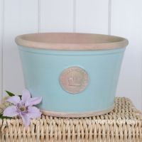 Kew Low Planter Pot Tiffany Blue - Royal Botanic Gardens Plant Pot - Large