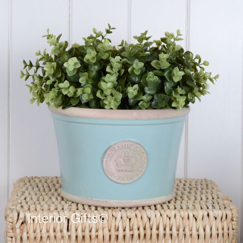 Kew Low Planter Pot Tiffany Blue - Royal Botanic Gardens Plant Pot - Medium