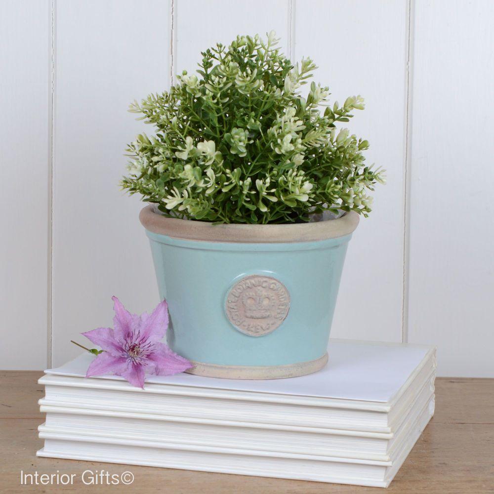 Kew Low Planter Pot Tiffany Blue - Royal Botanic Gardens Plant Pot - Small