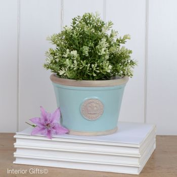 Kew Low Planter Pot Tiffany Blue - Royal Botanic Gardens Plant Pot - Small