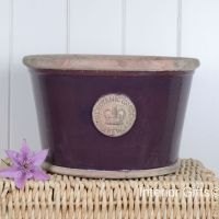 Kew Low Planter Pot Aubergine - Royal Botanic Gardens Plant Pot - Large