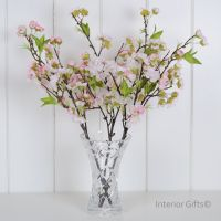Faux Silk Cherry Blossom Spray in Light Pink - Three stems 48 cm