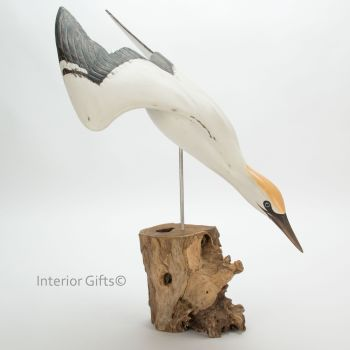 Archipelago 'Gannet Diving' Bird Wood Carving