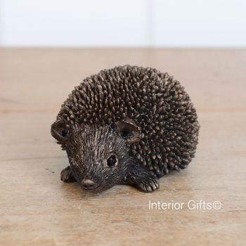 Frith Squeak Junior Hedgehog Bronze Sculpture by Thomas Meadows