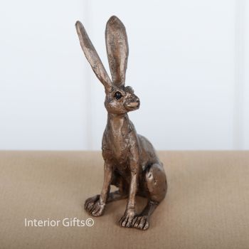 Jaz Hare Sitting Frith Bronze Sculpture Miniature *NEW* by Thomas Meadows