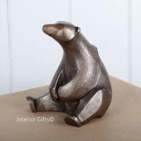 POLAR BEAR Sitting Frith Sculpture by Adrian Tinsley