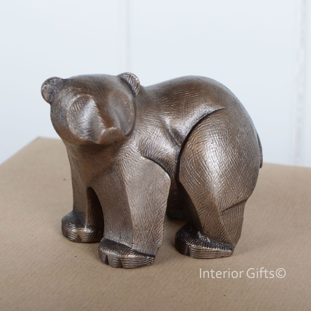 POLAR BEAR STANDING SCULPTURE Frith Cold Cast Bronze ADRIAN TINSLEY Contemporary