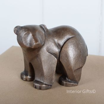 POLAR BEAR CUB Standing Frith Sculpture by Adrian Tinsley