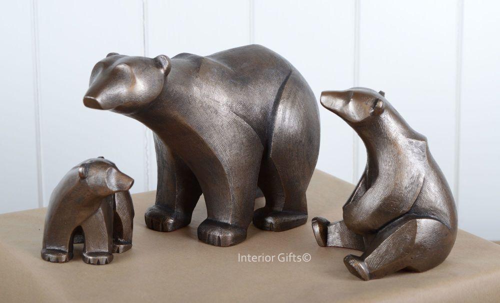POLAR BEAR FAMILY Frith Sculptures by Adrian Tinsley