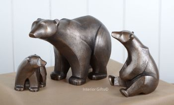 POLAR BEAR FAMILY Frith Sculptures by Adrian Tinsley