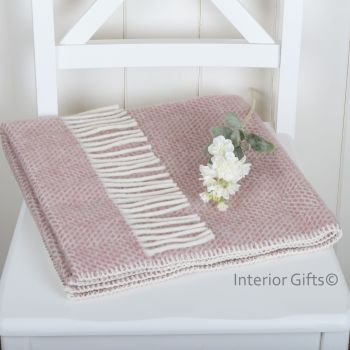 Baby Pram Blanket - Dusky Pink Pure New Wool