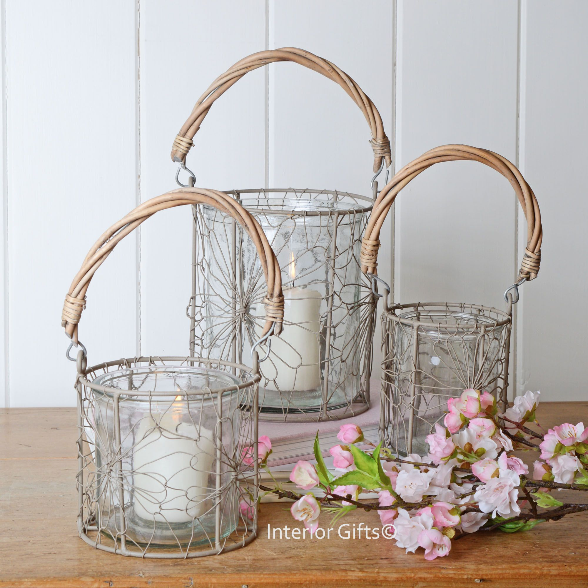 Rustic Glass & Wire Lanterns