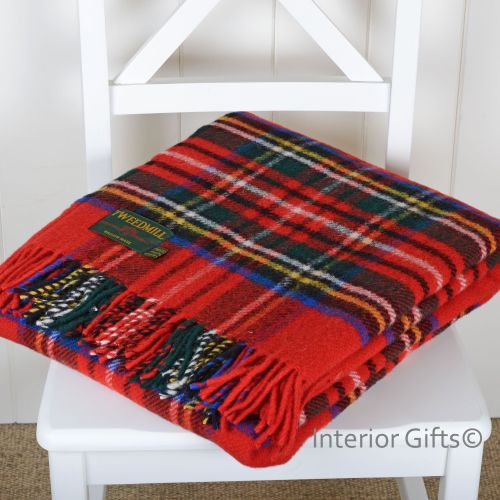 Tweedmill Royal Stewart Tartan Check Country Picnic / Throw / Travel Rug /