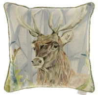 Voyage Holberton Stag Square Country Cushion - 50 x 50 cm