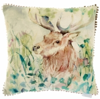 Voyage Oak View Stag Square Country Cushion - 50 x 50 cm