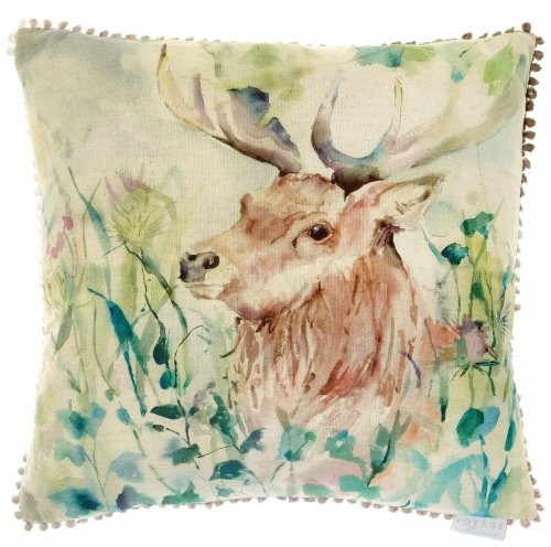 Oak View Stag Square Country Cushion - Voyage Maison - 50 x 50 cm