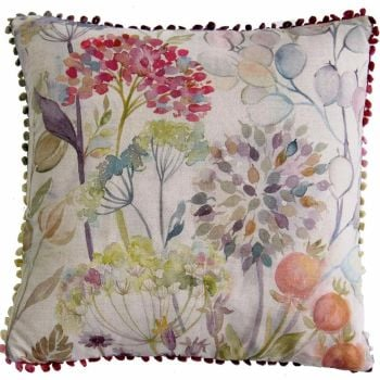 Voyage Hedgerow Square Linen Country Cushion - 43 x 43 cm
