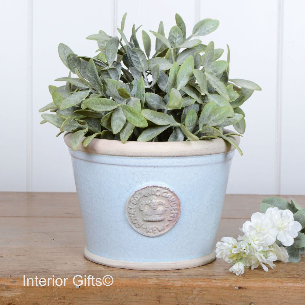 Kew Low Planter Pot Duck Egg Blue - Royal Botanic Gardens Plant Pot - Small