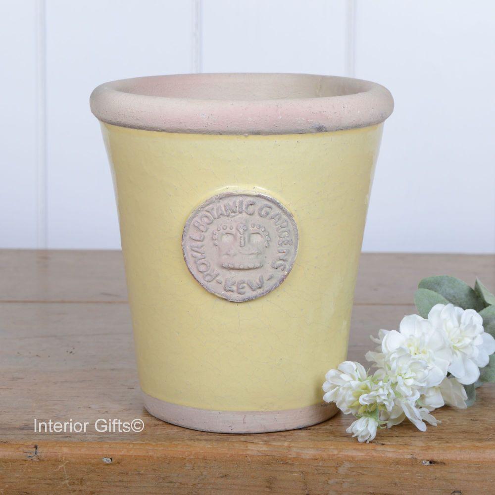 Kew Long Tom Pot in Citron Yellow - Royal Botanic Gardens Plant Pot - Mediu