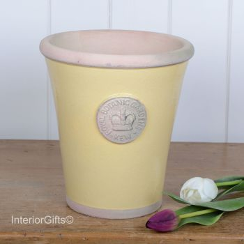 Kew Long Tom Pot in Citron Yellow - Royal Botanic Gardens Plant Pot - Large