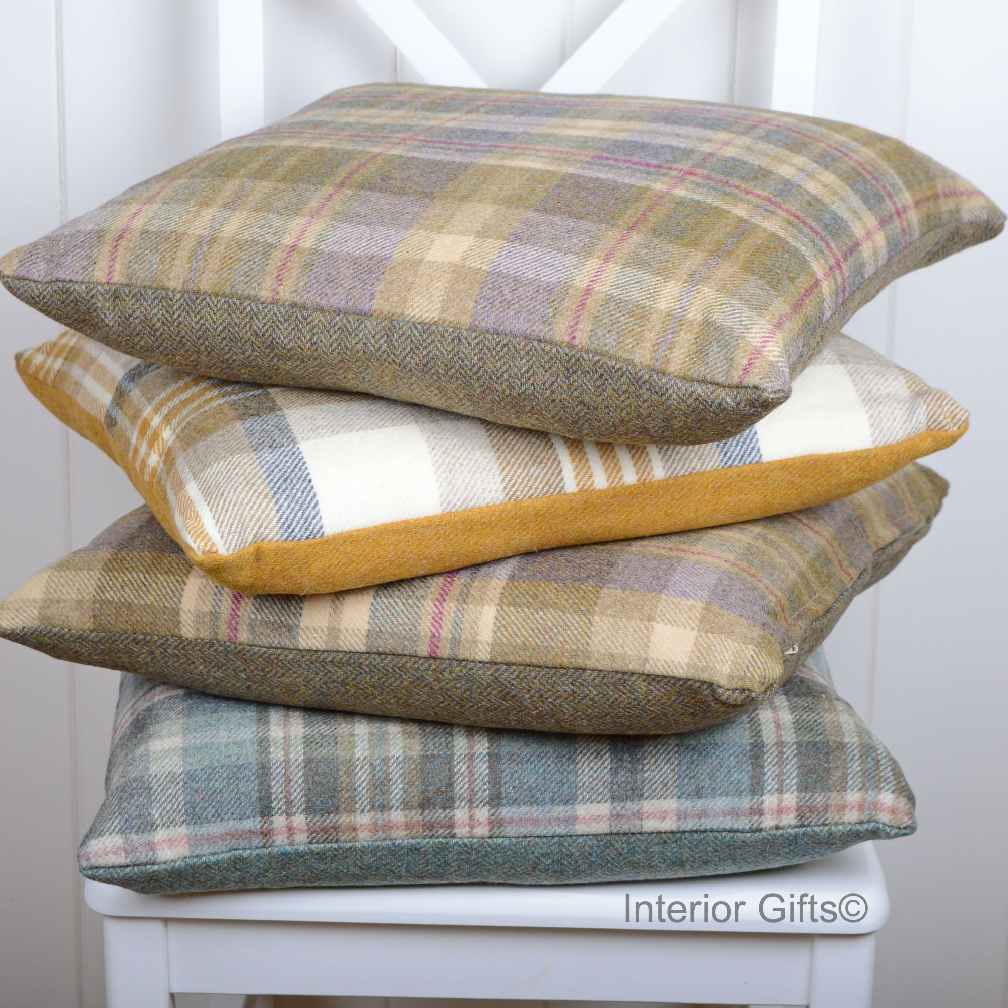 BRONTE CUSHIONS PURE NEW SHETLAND WOOL OR LAMBSWOOL