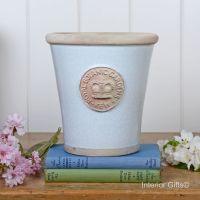 Kew Long Tom Pot in Duck Egg Blue - Royal Botanic Gardens Plant Pot - Medium
