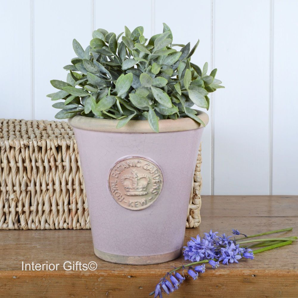 Kew Long Tom Pot in Powder Pink - Royal Botanic Gardens Plant Pot - Medium