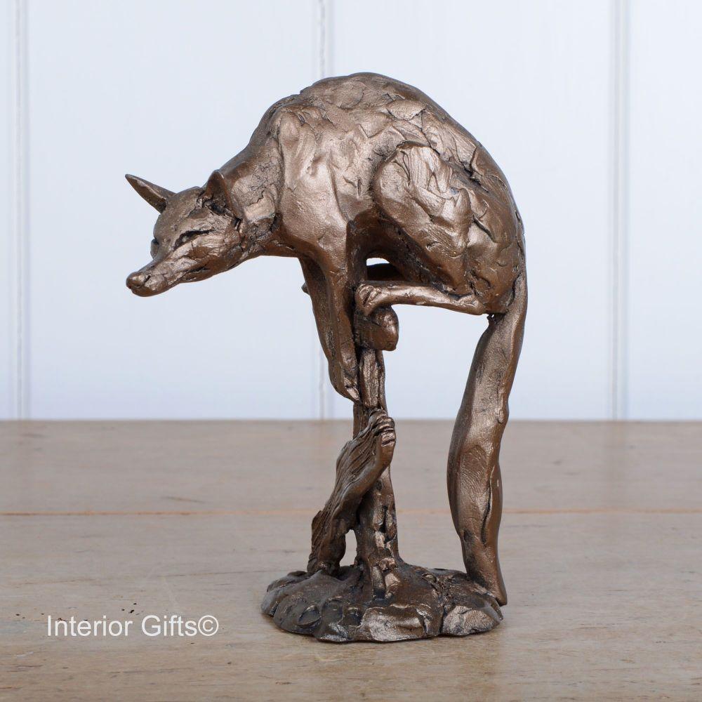 Merlin the Cunning Fox Frith Bronze Sculpture by Paul Jenkins