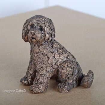 Shorty Labradoodle Frith Bronze Sculpture Miniature by Adrian Tinsley