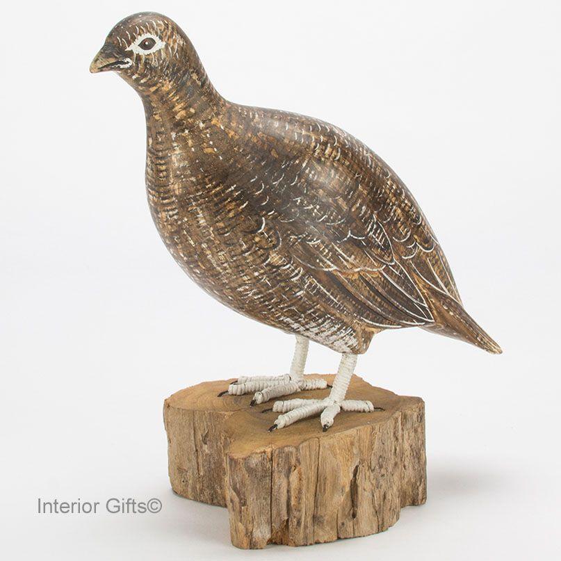Archipelago Grouse Female Bird Wood Carving