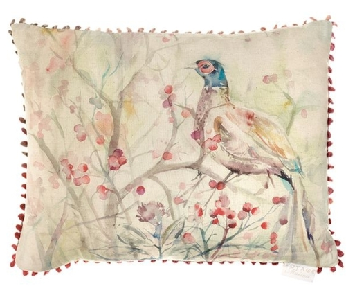 Blackberry Row Pheasant Country Cushion - Voyage Maison - 40 x 50 cm
