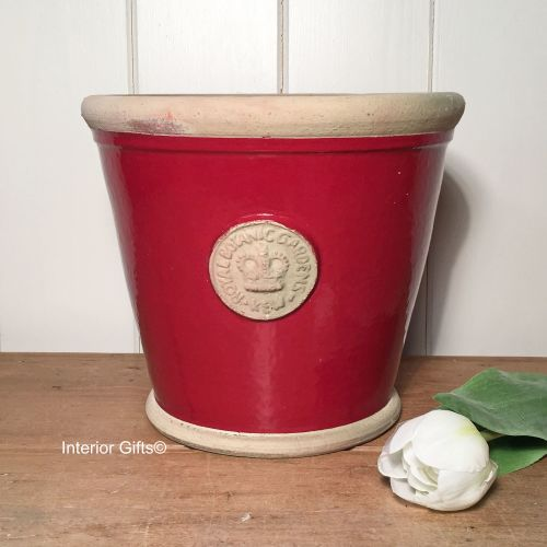 Kew Orangery Pot Berry Red - Royal Botanic Gardens Plant Pot - 23 cm H