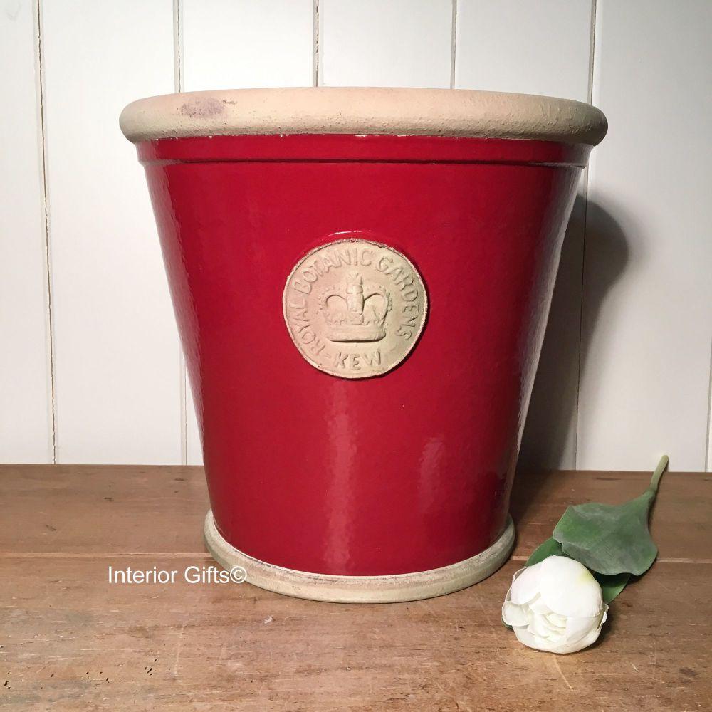 Kew Orangery Pot Berry Red - Royal Botanic Gardens Plant Pot - 27 cm H