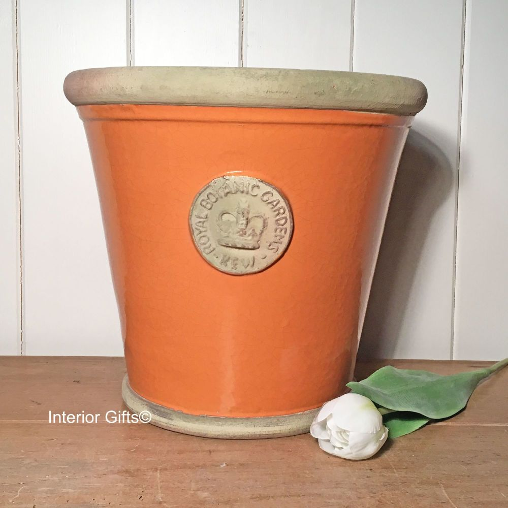 Kew Orangery Pot Burnt Sand - Royal Botanic Gardens Plant Pot - 27 cm H
