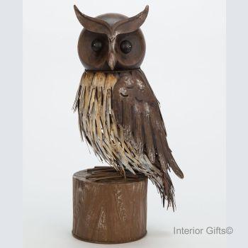 Archipelago Owl - Metal Garden Bird Sculpture