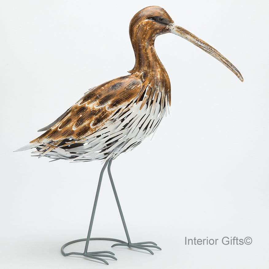 Sandpiper Coastal Bird Sculpture Curlew Snipe Metal Yard Art