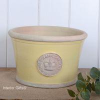 Kew Low Planter Pot Citron Yellow - Royal Botanic Gardens Plant Pot - Medium
